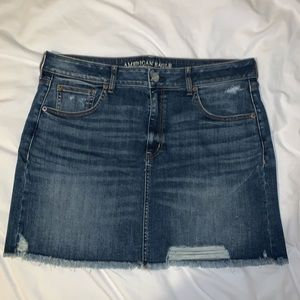 Distressed Denim Jean Skirt American Eagle